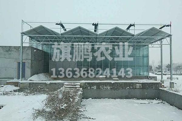 眉县欣钛程泳池玻璃温室
